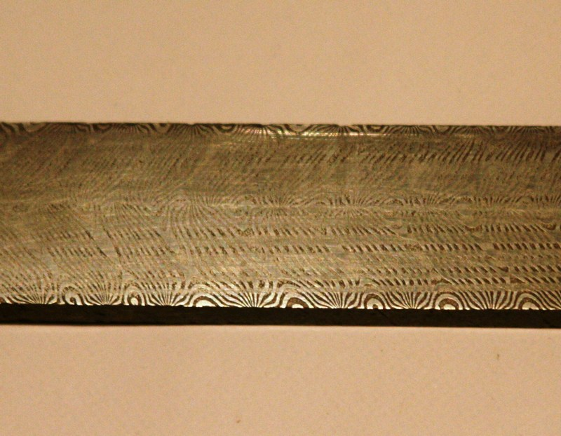Patterned Damascus Steel