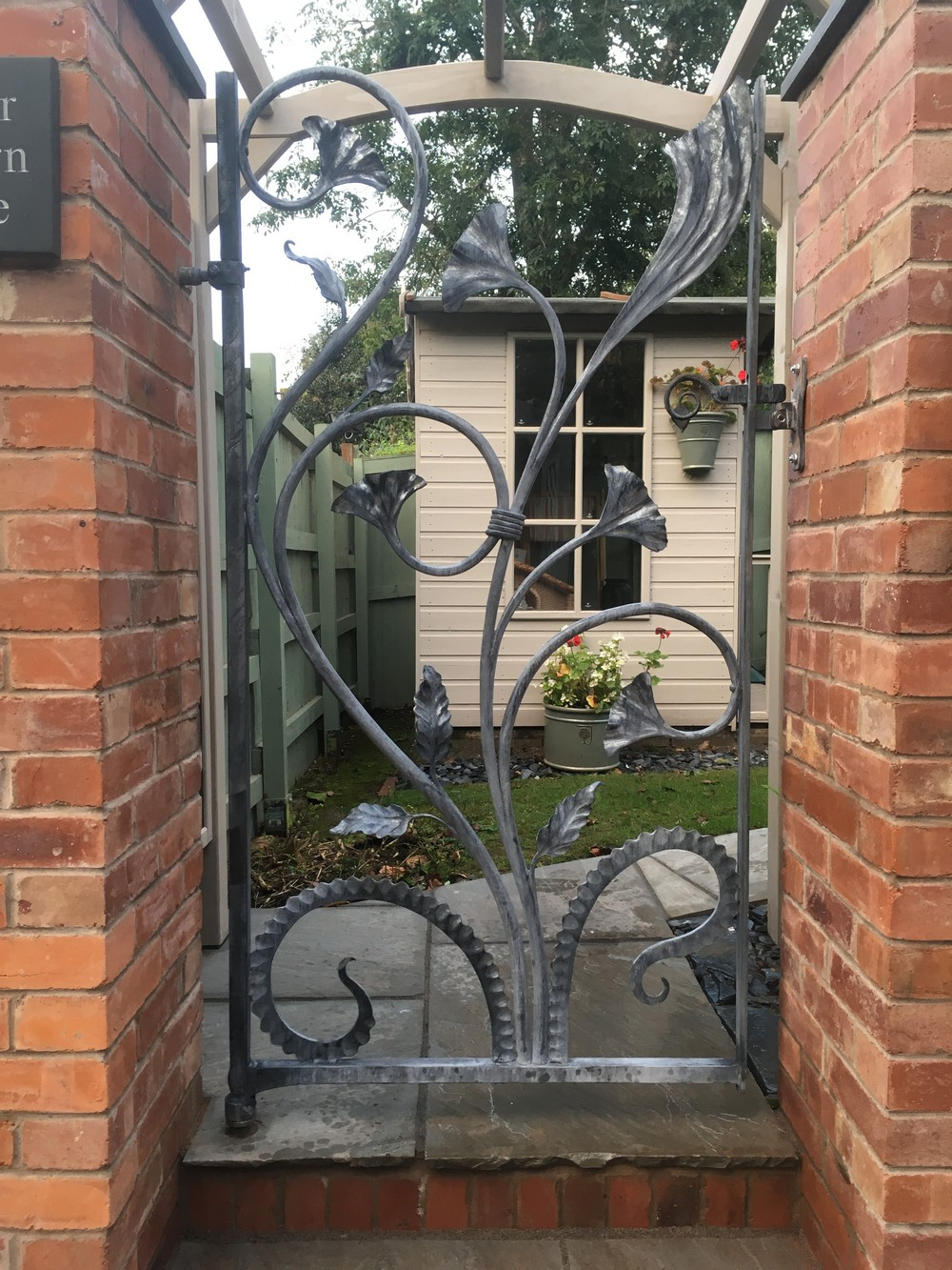 Organic Garden Gate - wrought iron