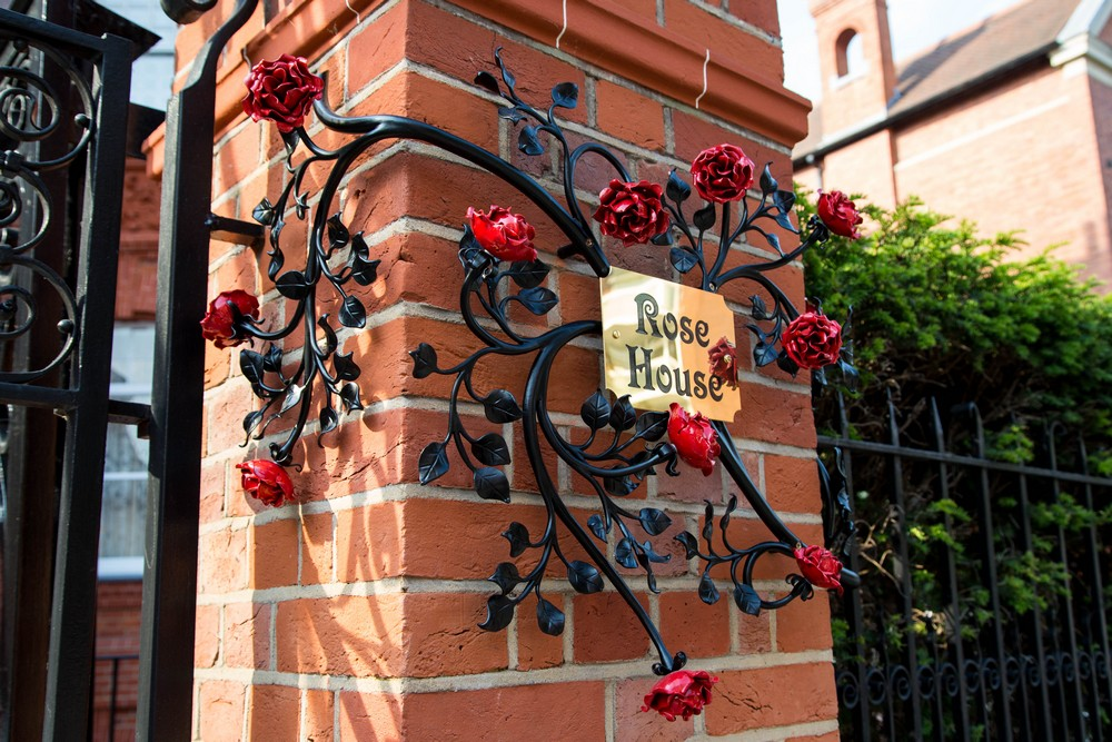 Rose House Sign Wrought Iron