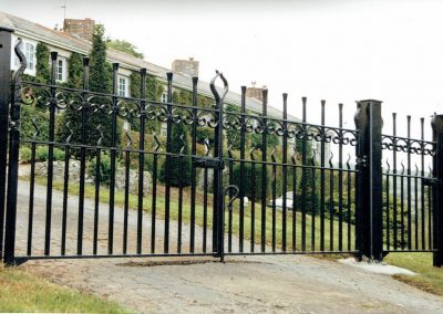 Entrance Gate with Side Panel