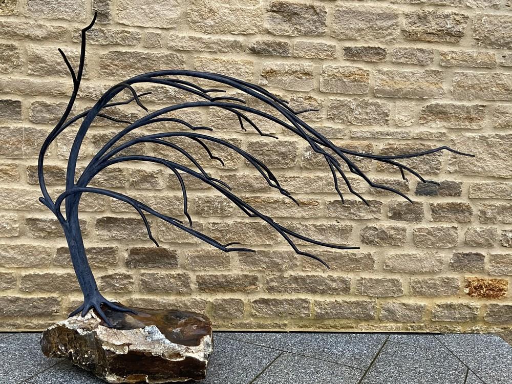 Wrought Iron Windswept Tree
